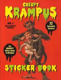 Creepy Krampus Sticker Book #1 Collectors Edition 72 Reusable Stickers