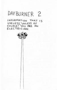 Dayburner #2 Information That is Useless Unless of Course You Are an Electrician