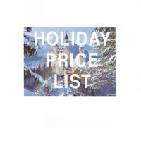 Holiday Price List