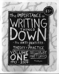 Importance of Writing Things Down #1 Anti Dentities in Theory and Practice 95 04
