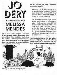 Jo Dery In Conversation With Melissa Mendes