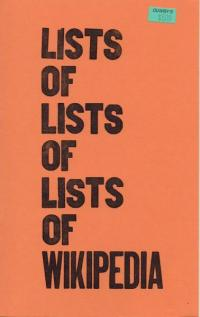 Lists of Lists of Lists of WIkipedia