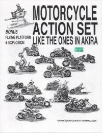 Motorcycle Action Set Like the Ones in Akira
