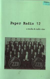 Paper Radio #12 a Media and Radio Zine