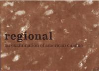 Regional #1 Spr 11 an Examination of American Cuisine