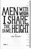 Men With Whom I Share the Same Height #3