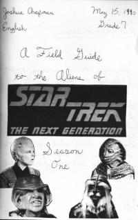 Field Guide to the Aliens of Star Trek The Next Generation Season One