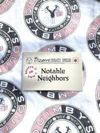 Bizarre Fact File #3 Notable Neighbors