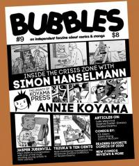 Bubbles #9 Independent Fanzine About Comics and Manga